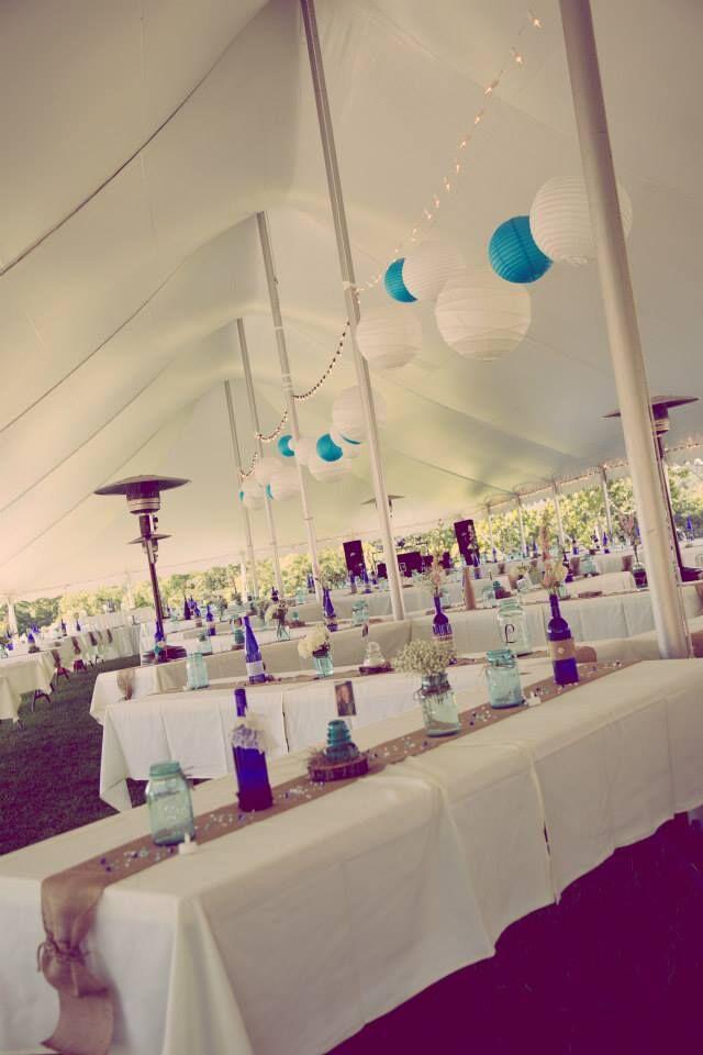 Tent - Inside - Decorations - Pointe D'Vine